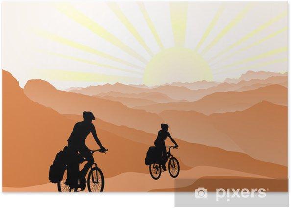 Plakat Aktywny styl życia, koncepcja outdoor - Kolarstwo