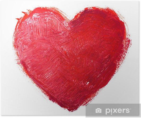 Plakat Akwarela serca. Koncepcja - miłość, związek, sztuki, malarstwo - Tła