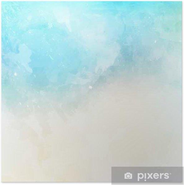 Plakat Akwarela tekstury tła - Zasoby graficzne