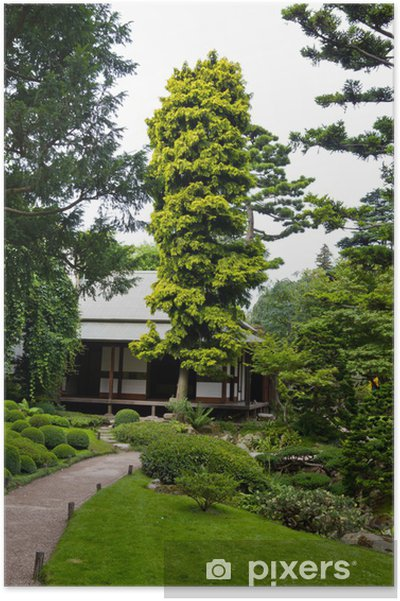 Plakat Albert Khan - Ogród Japoński - Miasta europejskie