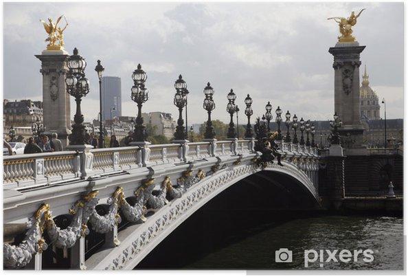 Plakat Aleksander III Most w Paryżu - Miasta europejskie