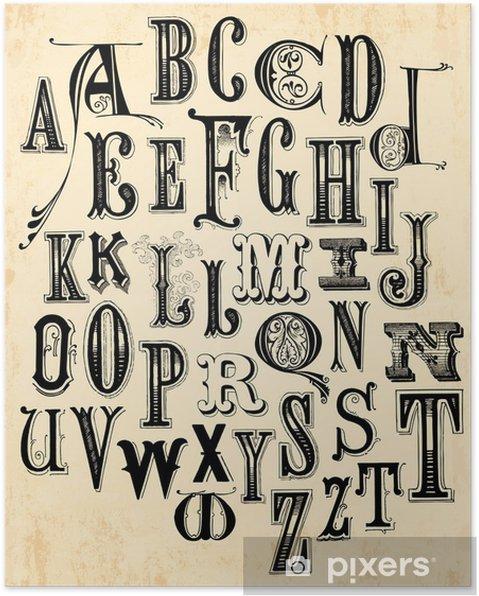 Plakat Alfabet archiwalne - Tematy