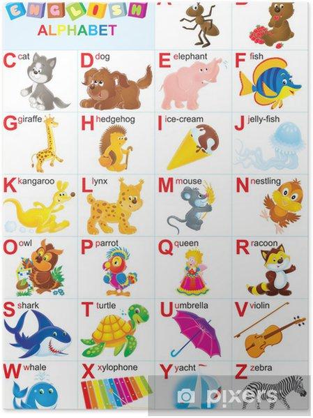 Plakat Alfabetu Angielskiego Dla Dzieci