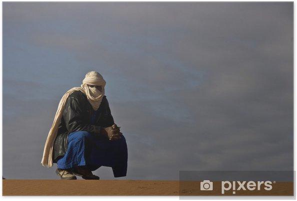 Plakat Algieria, turystyka w Tadrart czerwonym - Wakacje