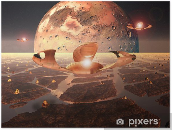 Plakat Alien Planet - Natura i dzicz