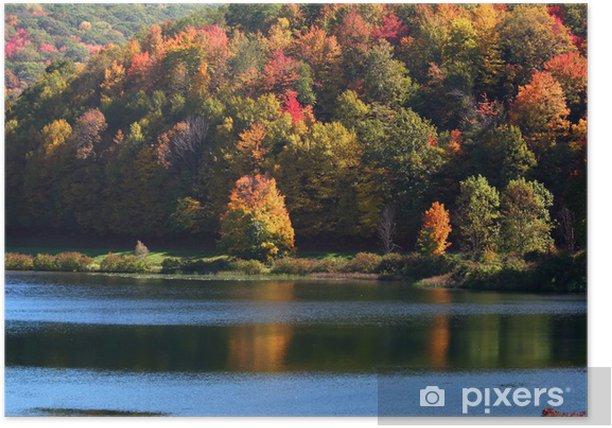 Plakat Allegheny state park w Pensylwanii - Pory roku