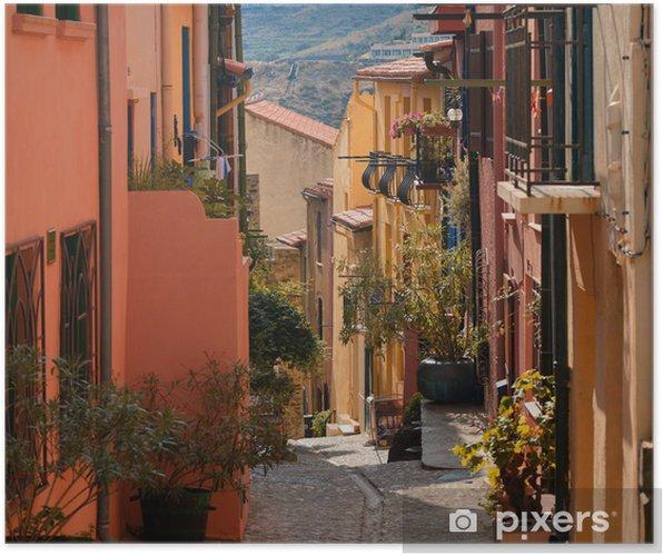 Plakat Alley w Collioure - Pejzaż miejski