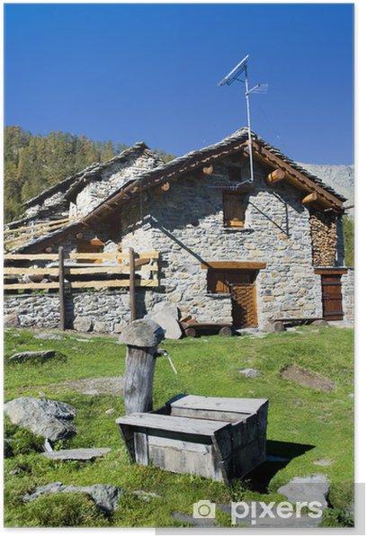 Plakát Alpine hut - Soukromé budovy