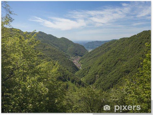 Plakát Alpine Valley - Evropa