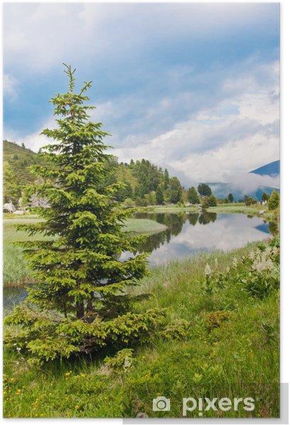 Plakát Alpské krajiny - Windebensee in Kärnten Nockalmstraße Rakousku - Voda