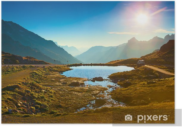 Plakat Alpy krajobraz - Góry