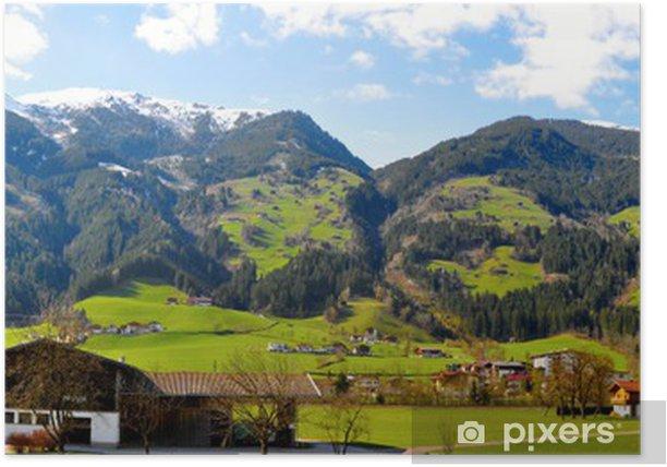 Plakát Alpy panorama - Roční období