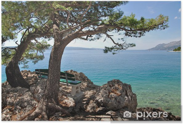 Plakat Am Promenadenweg von der Brela Makarska Riviera - Tematy