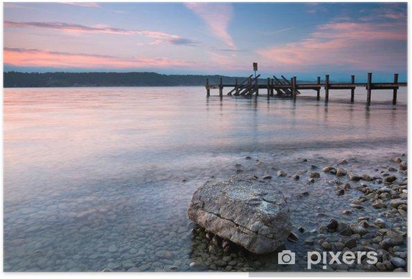 Plakat Am Ufer des Sees - Woda