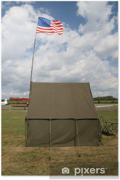 Plakat Amerykańska armia namiot z flagi narodowej - Zabytki
