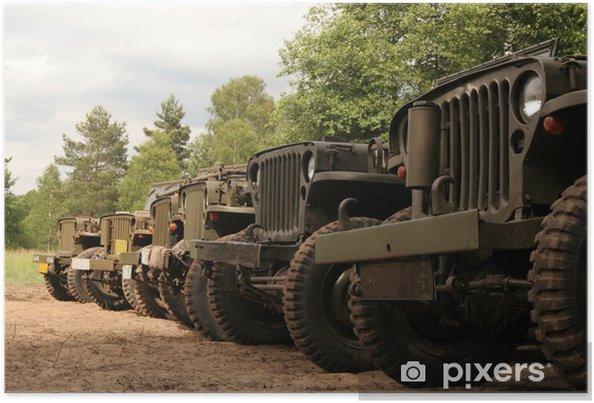 Plakat Amerykańskie samochody wojskowe - Czas