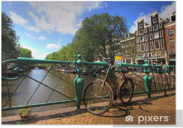 Plakat Amsterdam, canaux - Miasta europejskie