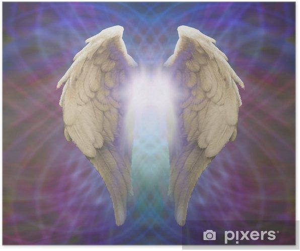 Plakát Andělská křídla na Matrix pozadí - Náboženství