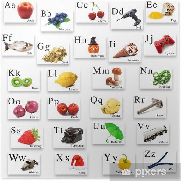 Plakat Angielski Alfabet