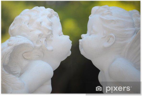 Plakat Anioły pocałunek - Szczęście