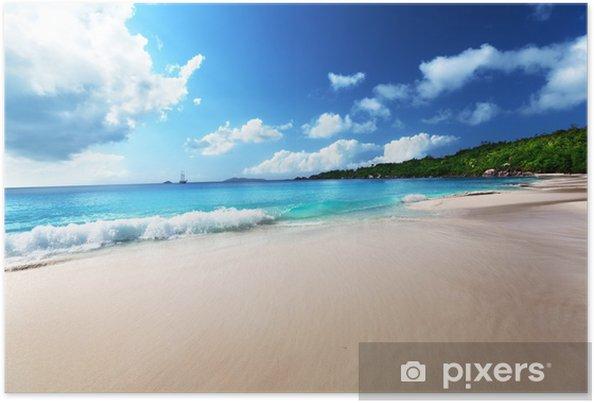 Plakát Anse Lazio Beach na ostrově Praslin, Seychely - Voda