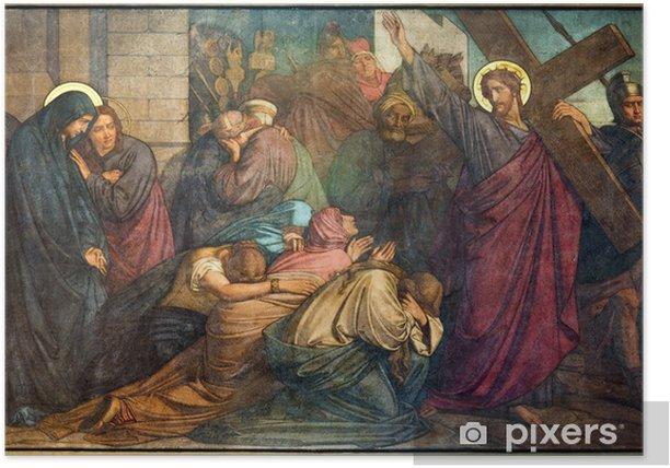 Plakát Antverpy - Ježíš splňuje ženy Jerusalems - fresku - Témata