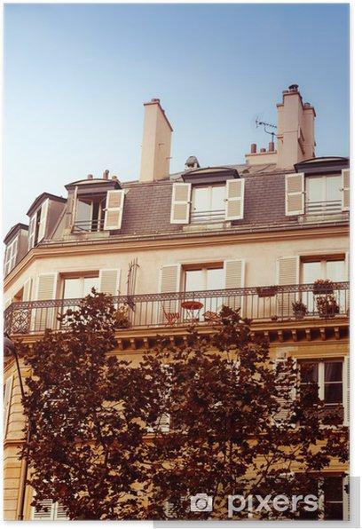 Plakat Antyczny widok miasta - Budynki prywatne