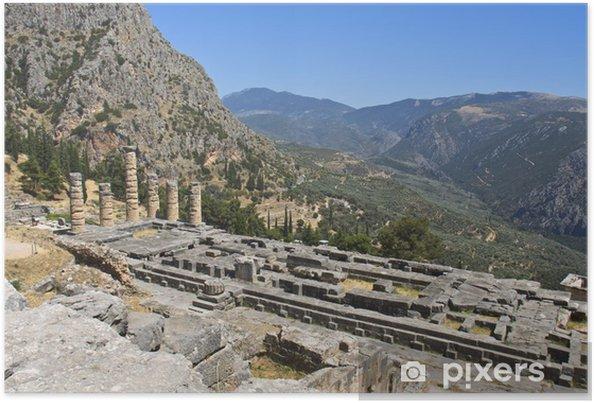 Plakát Apollónův chrám v Delphi věštce v Řecku - Evropa