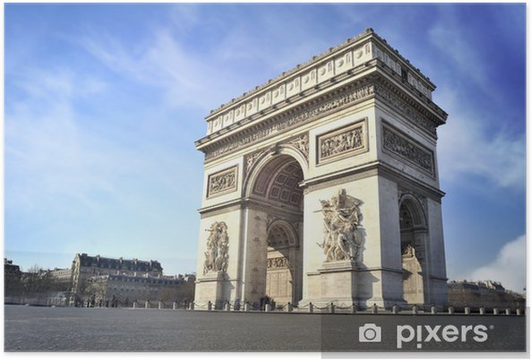 Plakát Arc de Triomphe, Paříž, Francie - Evropská města
