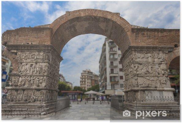 Plakát Arch of Galerius nebo Kamara v Soluni, Řecko - Evropa
