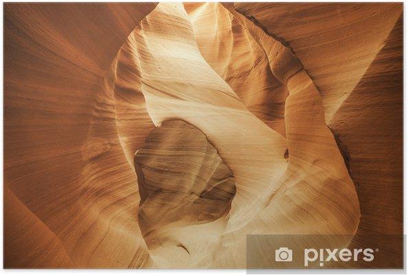 Plakat Arch w słynnej Kanion Antylopy - Ameryka