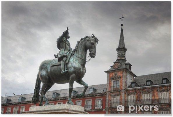 Plakát Architektura na Plaza Mayor (Hlavní náměstí) v Madridu, Španělsko. Casa - Evropská města