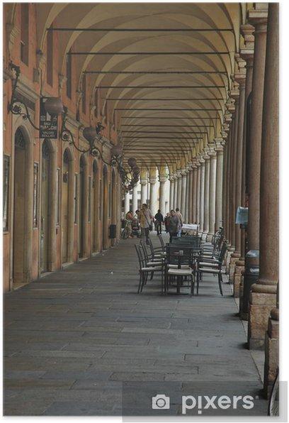 Plakat Arkady Kolegium, Modena - Pejzaż miejski