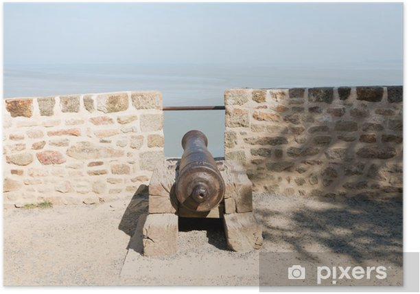 Plakat Armata stary Mont Saint Michel - Zabytki