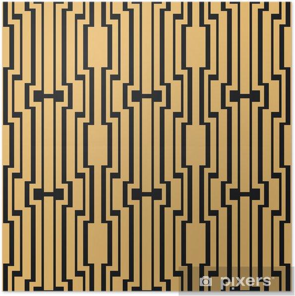 Plakat Art Deco bez szwu rocznika wzór tapety - Tło