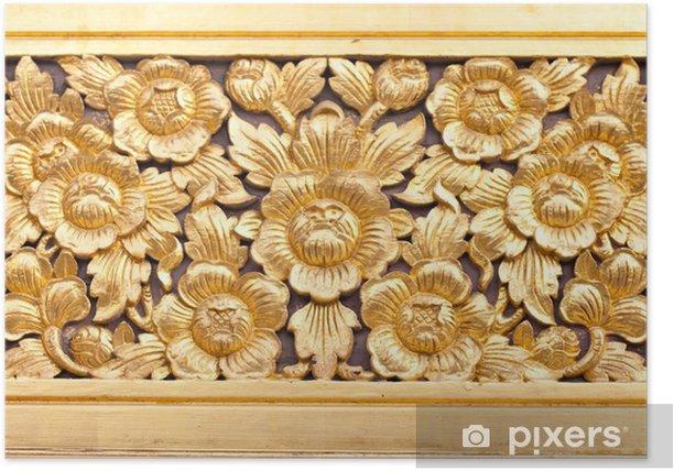 Plakat Art rzeźbić w drewnie - Budynki użyteczności publicznej