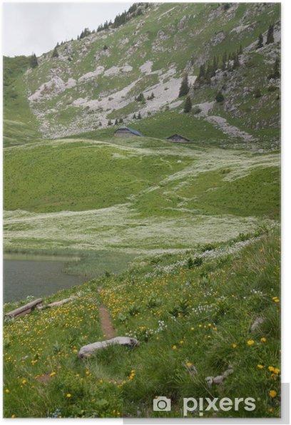 Plakat Arvouin jezioro w Alpach i Savoy - Europa
