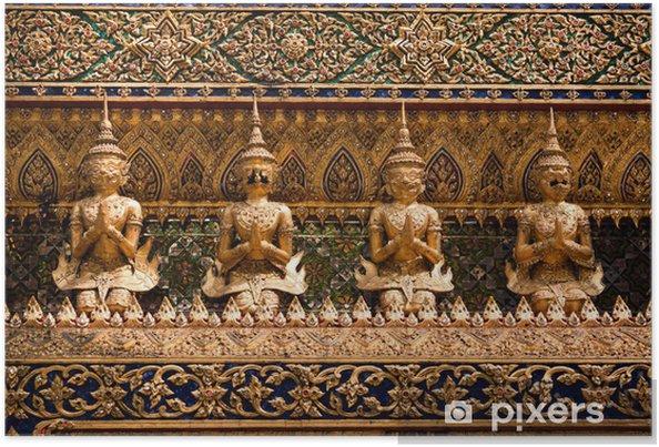 Plakat Asian posąg bogini, Bangkok, Tajlandia - Azja