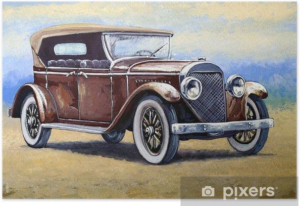 Plakat Auto, obrazy retro samochodów - Transport