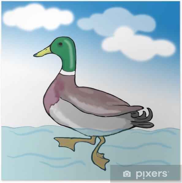 Plakát Azulon nadando - Nebe