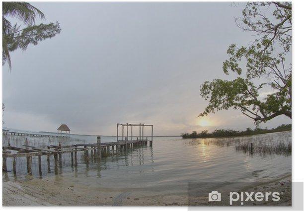 Plakat Bacalar laguny, Meksyk - Ameryka