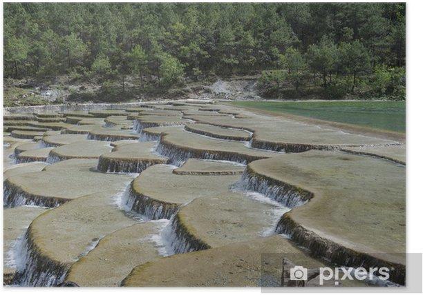 Plakat Baishui rzeki taras w chmurze Fir łące - Azja