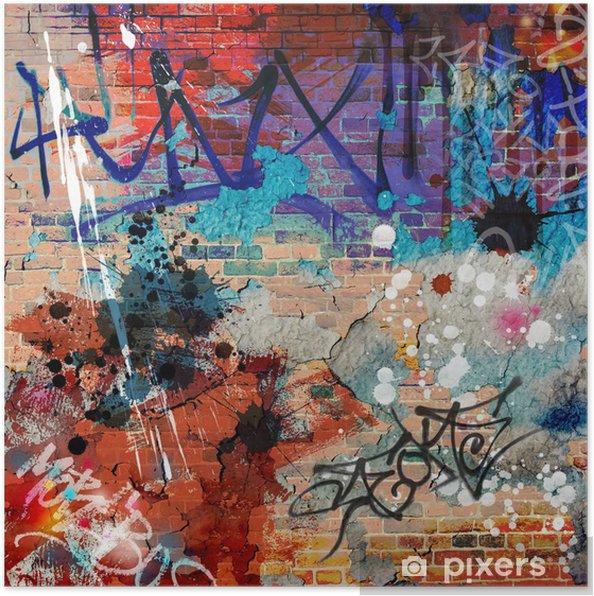 Plakat Bałagan? ciany graffiti - Tematy