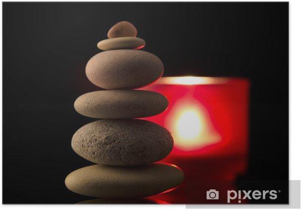 Plakat Balanced Pile Kamień - Uroda i pielęgnacja ciała