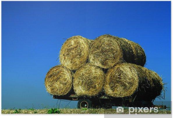 Plakat Bale słomy - Pory roku
