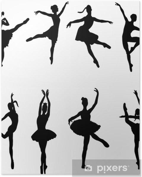 Plakat Baletnicy - wektor - Rozrywka