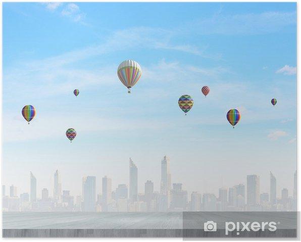 Plakat Balon na niebie - Święta Narodowe