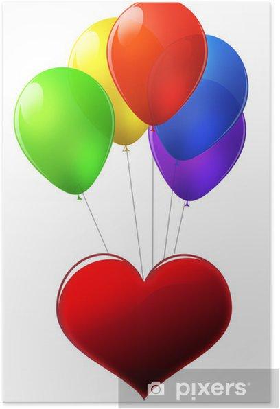 Plakat Balony - Świętowanie