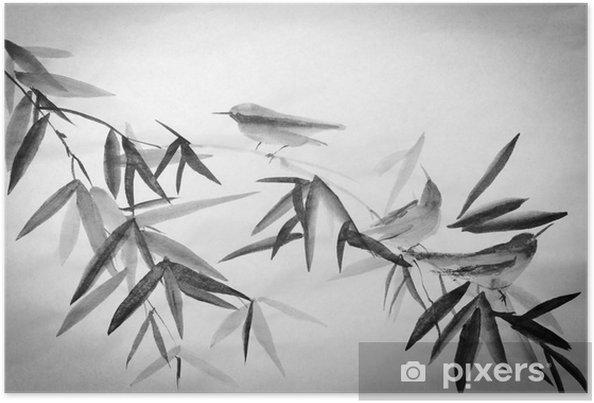 Plakat Bambus i trzy birdie oddział - Hobby i rozrywka
