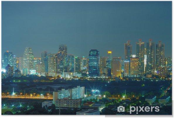 Plakát Bangkok noční pohled - Těžký průmysl